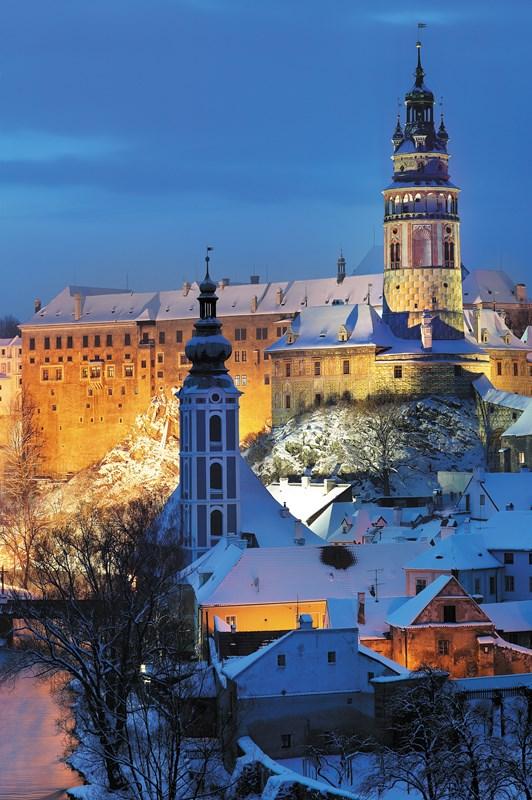 Czeski Krumlov, zima. fot.Libor Svacek